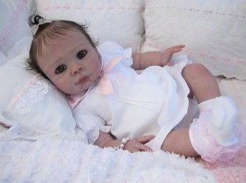 """Open eyed - Kendal Kit by Pat Moulton - *COMPLETE REBORN STARTER SET!!* 22"""" BABY With faux doe suede, disc jointed body."""