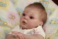 """Open eyed - Gracie Kit by Donna Rubert - *COMPLETE REBORN STARTER SET!!* 19-20"""" BABY With faux doe suede, disc jointed body."""