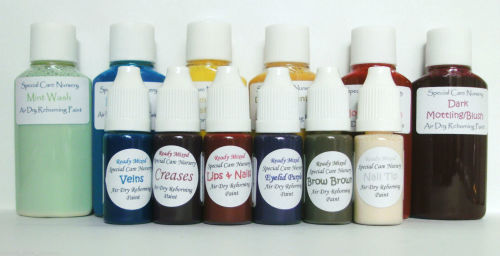 Special Care Nursery Air dry paints -  1 beginner set of 12 bottles ***WITH