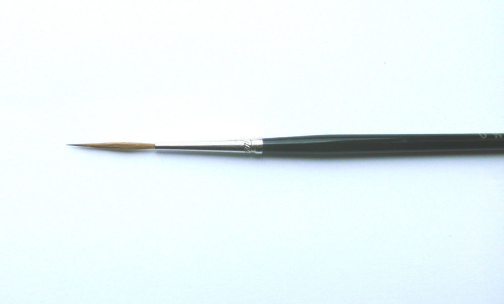 Fine Paint Brush LONG '0' SCN Air Dry - For our HAIR PAINTS/BROWS - Reborn