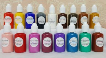 Special Care Nursery Air dry paints  -  1 set of 17 colours - concentrated paint set - 30ml bottles of basic colours fo
