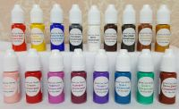 Special Care Nursery Air dry paints -  1 set of 17 colours - concentrated paint set - 10ml bottles of basic colours for mixing.