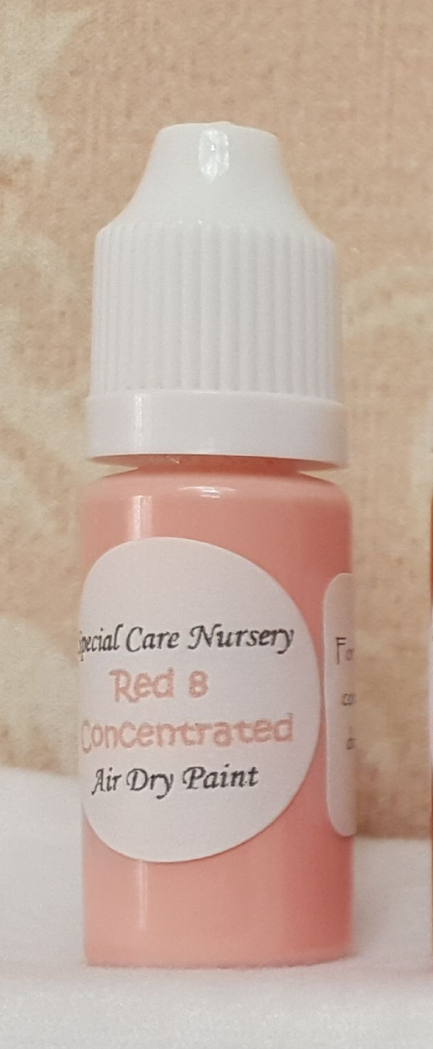Special Care Nursery Air dry paints - *The concentrated paints* - 10ml Red