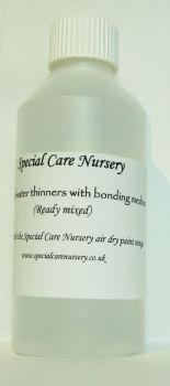 Special Care Nursery Air dry paints -  DISTILLED WATER THINNERS with added Bonding Medium 500mls.