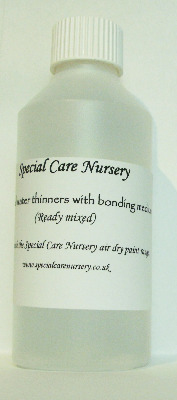 Special Care Nursery Air dry paints - 250ml Distilled Water Thinners with a