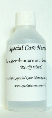 Special Care Nursery Air dry paints - 100ml Distilled Water Thinners with a