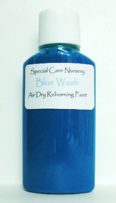 Special Care Nursery Air dry paints - *The Washes* No.2 - 30ml BLUE WASH. F
