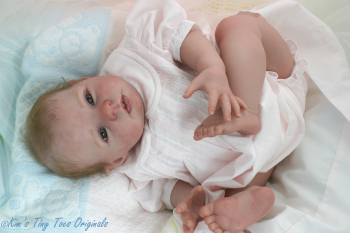 """Open eyed - Honey by Donna RuBert - *COMPLETE REBORN STARTER SET!!* 20"""" baby -With faux doe suede, disc jointed body."""