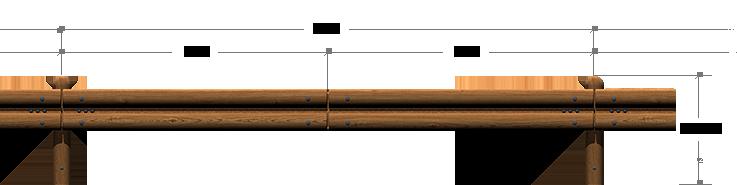 Sct Timber Crash Barrier 4m System N2 W4 Rating N2
