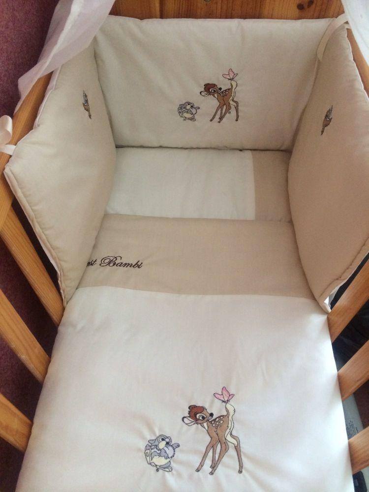 Bambi 3 piece baby bedding set