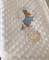 Personalised Peter Rabbit Minky/Dimple Fleece Blanket