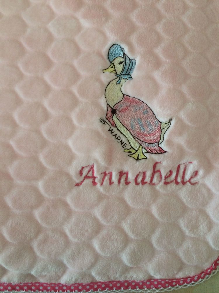 Personalised Jemima Puddleduck Blanket