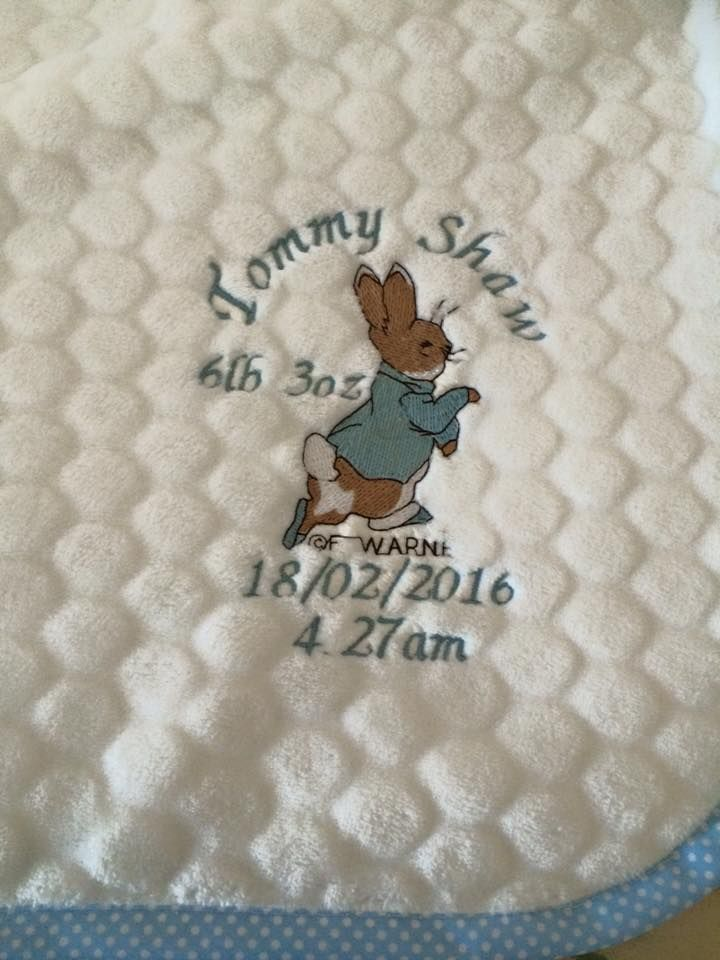 Personalised Peter Rabbit Blanket