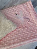 Luxury Personalised Unicorn Dimple Fleece Blanket