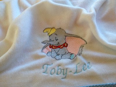 Dumbo Charactor Fleece Baby Blanket
