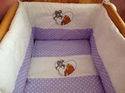 Lady And The Tramp 3 Piece Baby Bedding Set