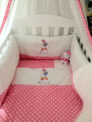Daisy Duck 3 Piece baby bedding set