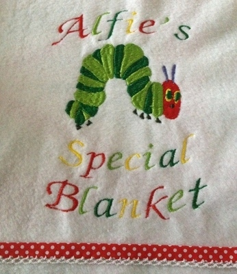 The Very Hungry Caterpillar Fleece Baby Blanket