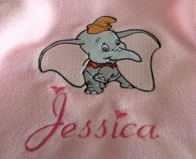Dancing Dumbo Fleece Baby Blanket