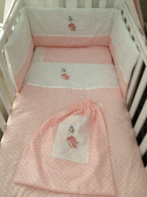 Jemima Puddleduck 3 Piece Baby Bedding Set