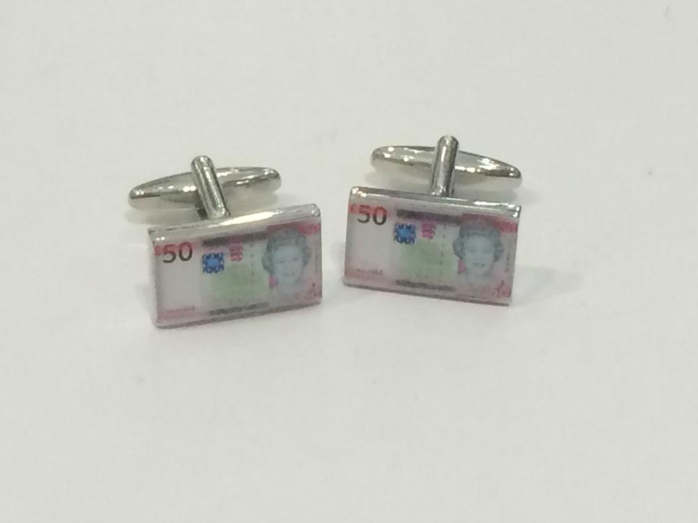 Jersey £50 Note Cufflinks