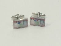 Jersey £50 Note Cufflinks WERE £14.95 NOW £8.00