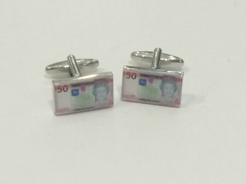Jersey £50 Note Cufflinks WERE £14.95 NOW £8.00