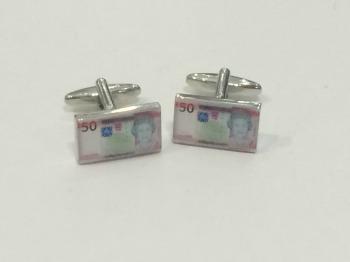 Jersey £50 Note Cufflinks + Free Gift