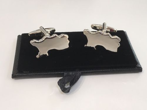 Silver Jersey Cufflinks