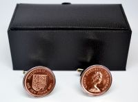 Vintage Jersey Penny Cufflinks + Free Gift