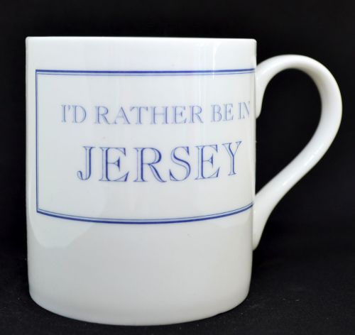 I'D RATHER BE IN JERSEY Mug in Blue