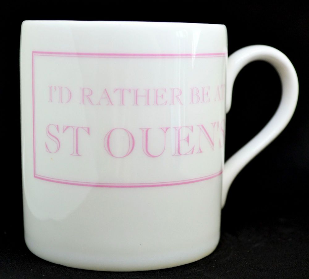 I'D RATHER BE AT ST OUEN'S  Mug in Pink