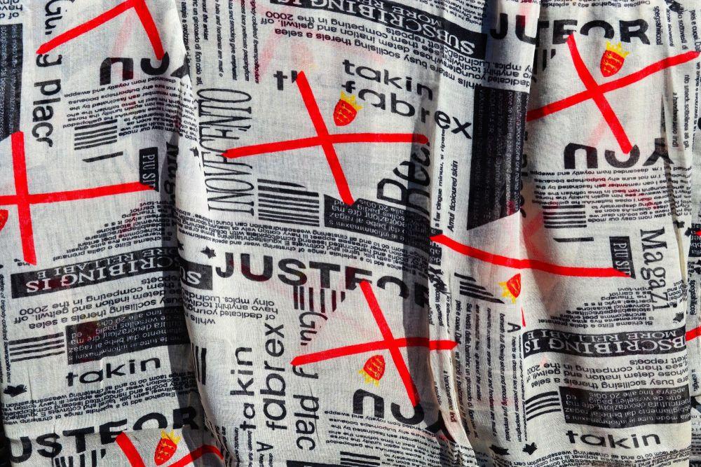 Jersey Flag Newsprint Scarf