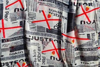 Jersey Flag Newsprint Scarf