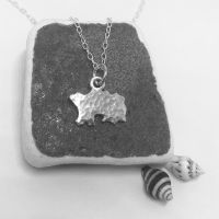 Jersey Map Silver Pendant Small