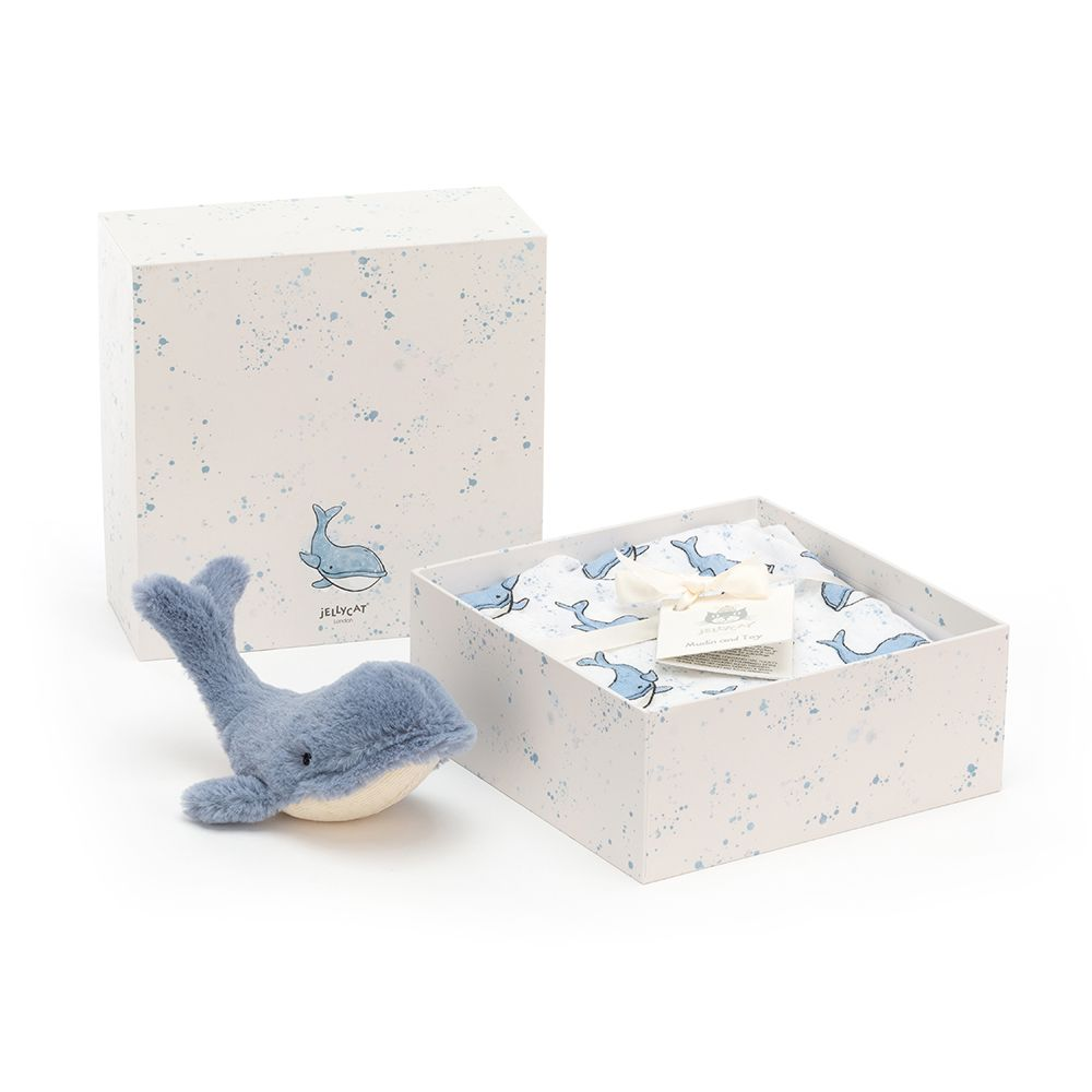 Wilbur Whale Gift Set by Jellycat