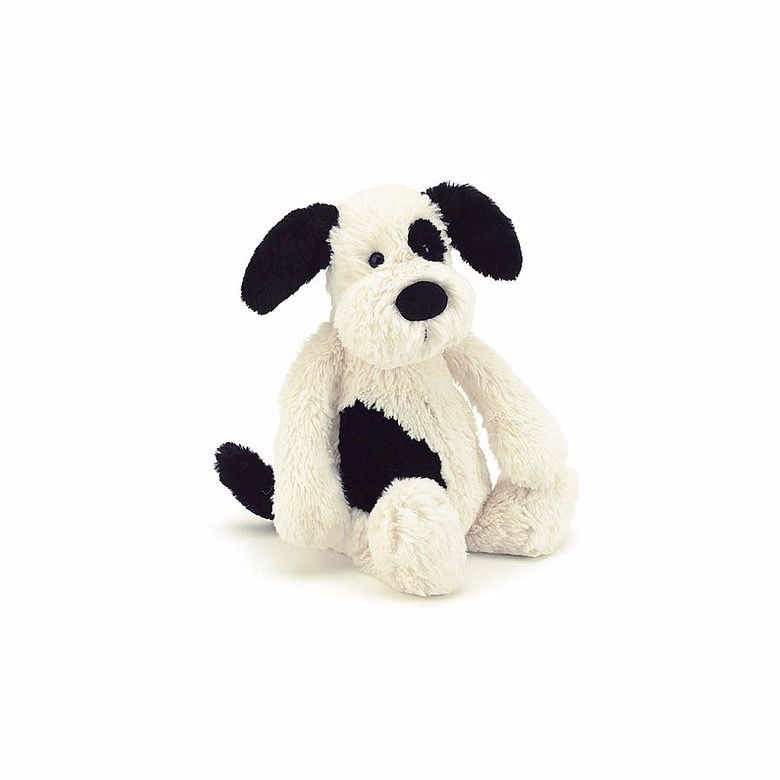 Bashful Puppy Black & Cream Small by Jellycat