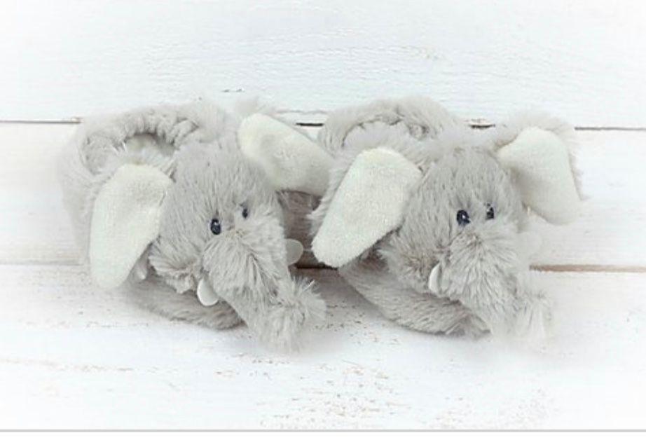 Elephant Baby Slippers by Jomanda