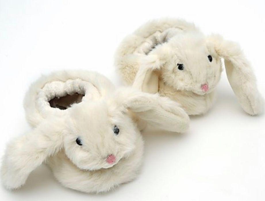 Bunny Baby Slippers Cream by Jomanda
