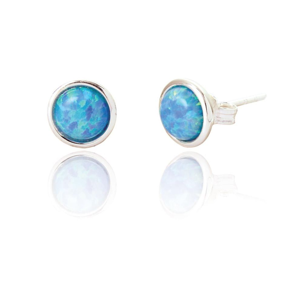Jemima Blue Opal Ear Stud