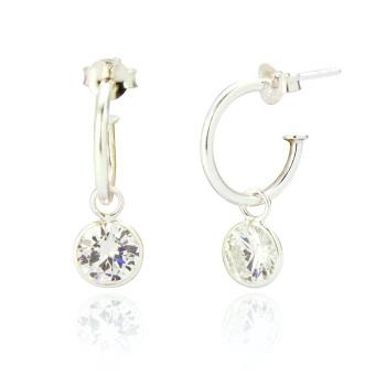 Felicity Hoop CZ Drop Earrings