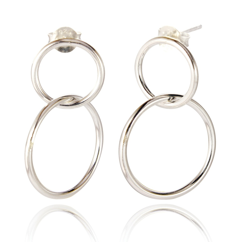 Macie Double Loop Drop Earrings