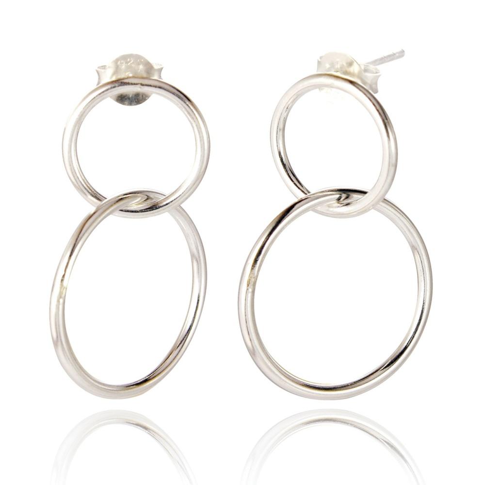 Macie Double Loop Drop Earrings