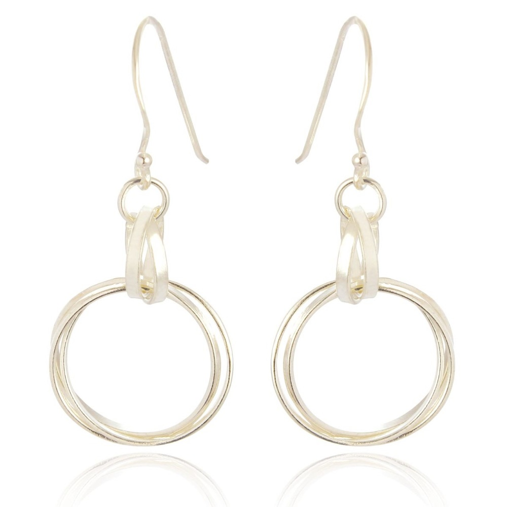 Tania Medium Circle Drop Earrings