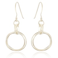 Tania Medium Circle Drop Earrings - AVAILABLE IN SILVER/SILVER & ROSE GOLD