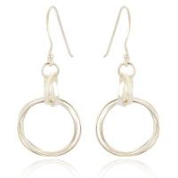 Tania Medium Circle Drop Earrings