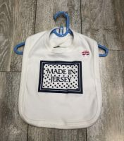 Made In Jersey Bib White/ Navy Print