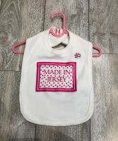 Made In Jersey Bib White/ Pink Print