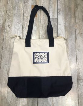 Made in Jersey Canvas Shopper Navy