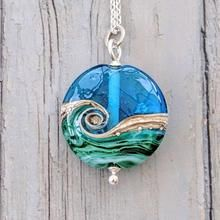 Deep Blue Sea Heart Pendant Large